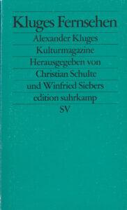 Schulte/Siebers (Hg.): Kluges Fernsehen